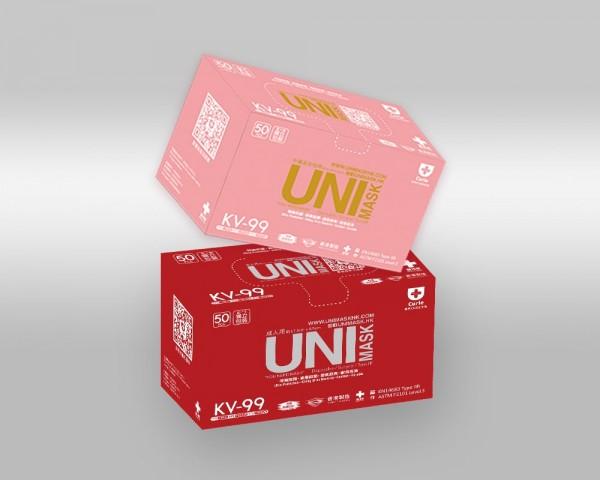 UNIMASK 成人+中童口罩各一盒 (共兩盒)